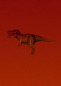 Red Simple Dinosaur