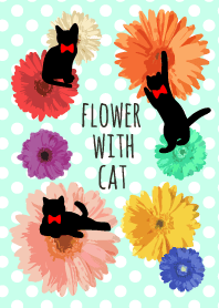 -FLOWER WITH CAT-