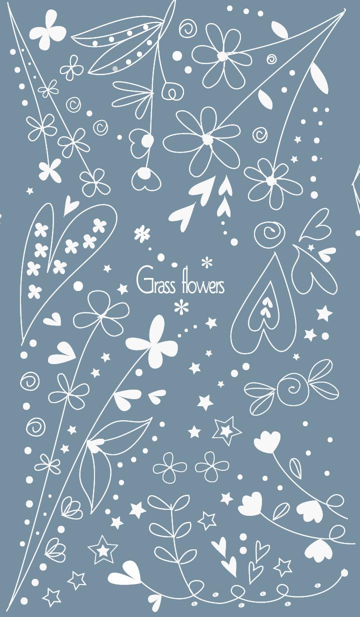 Grass flowers-blue