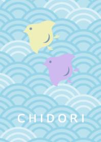 Japanese pattern -Chidori- Pale color