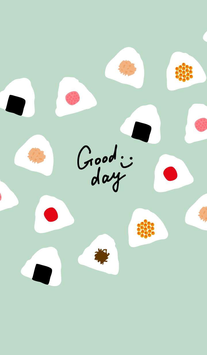 A rice-ball smile Green