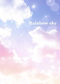 Rainbow sky and clouds