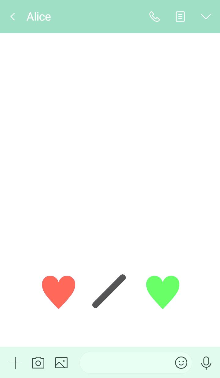 SIMPLE 2TONE MINI HEART 37