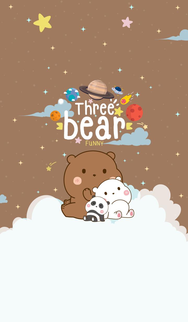 Bear Funny Galaxy Brown