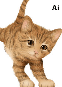 Ai Cute Tiger cat kitten