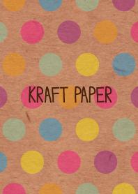 Kraft paper-Colorful dot3-