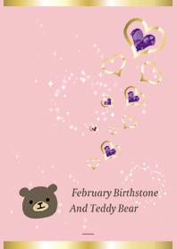 Pink : Bear & February stone