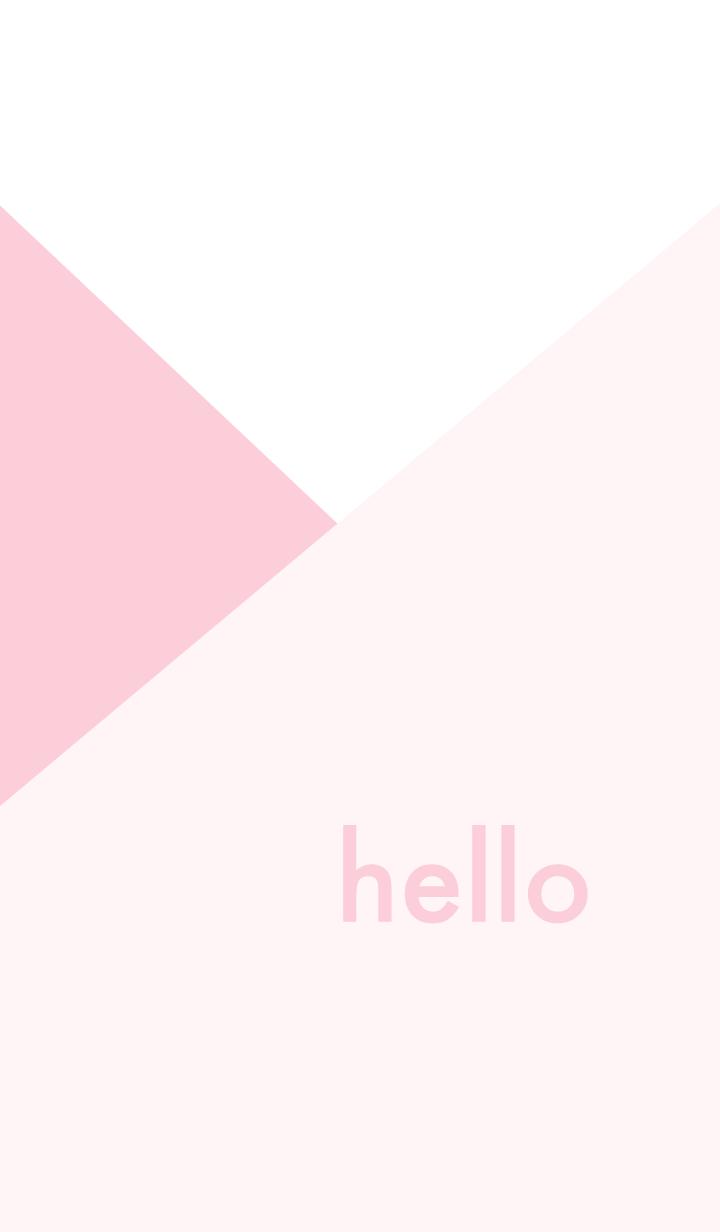 hello - くすみピンク
