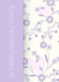 花卉圖案[矢車菊]/紫色 12
