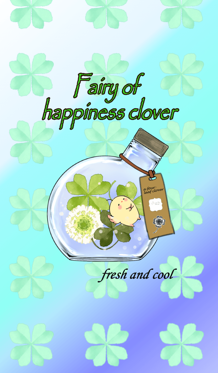 Fairy of happiness clover fresh and cool