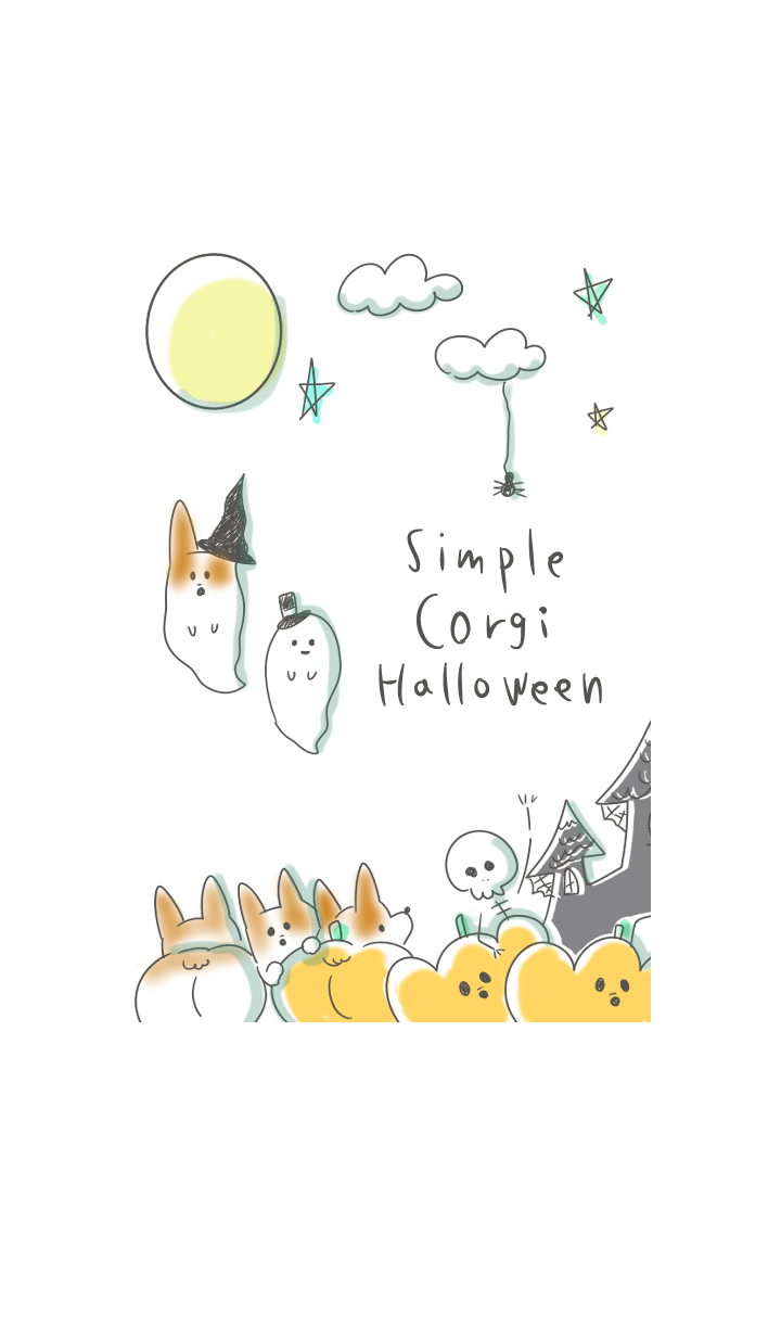 simple Corgi Halloween