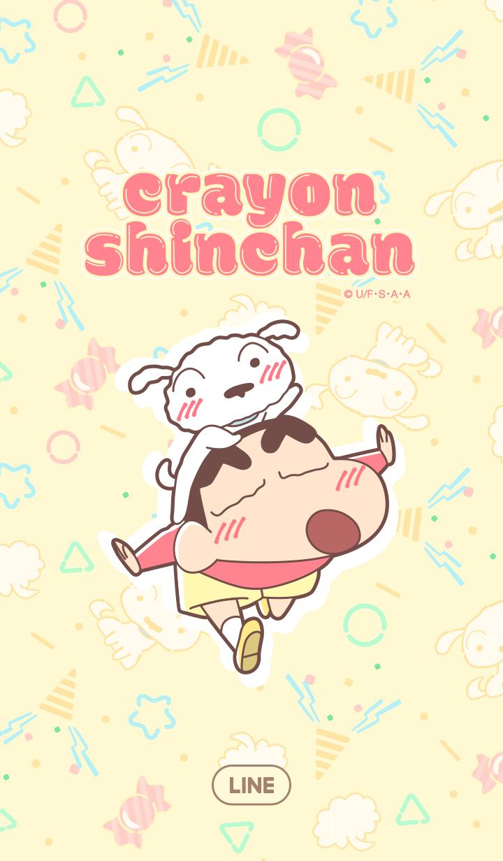 Crayon Shin-chan & Shiro: Pastel Colors