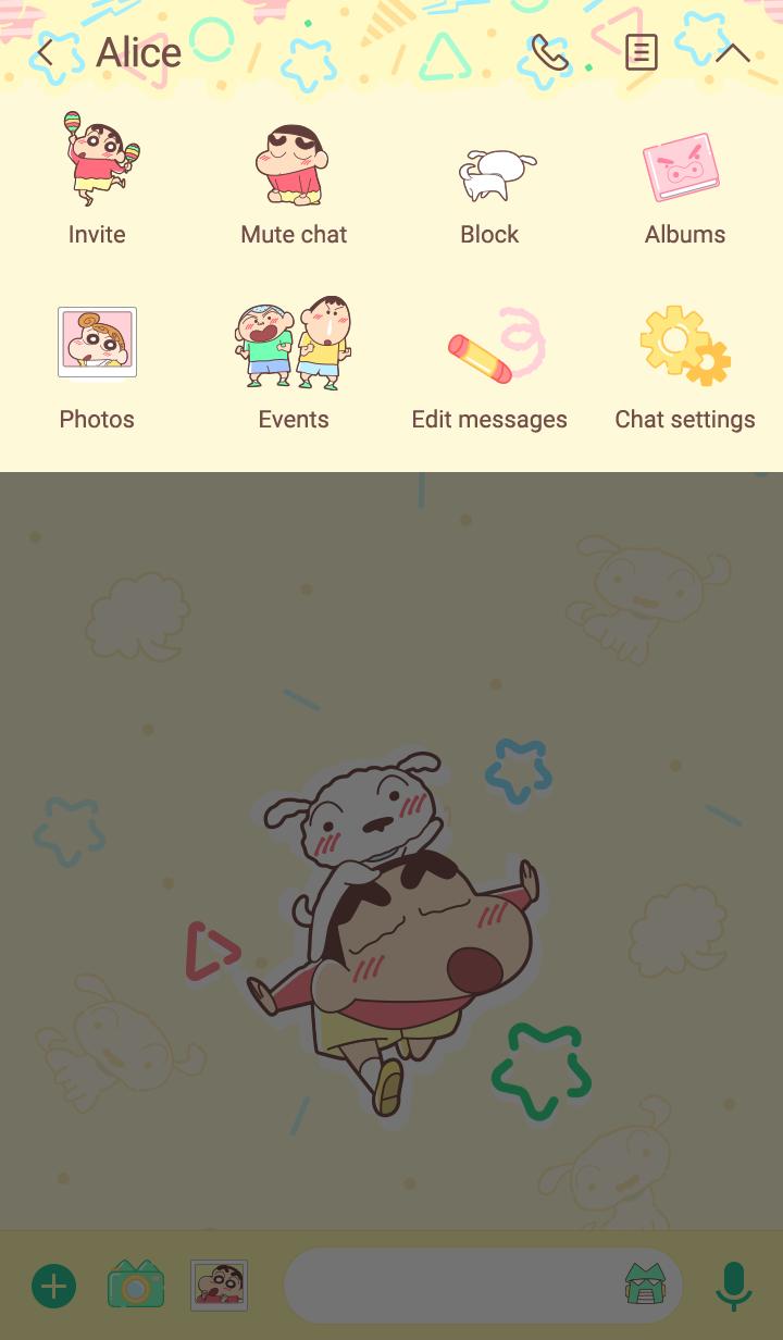 しんちゃん&シロ(パステル)