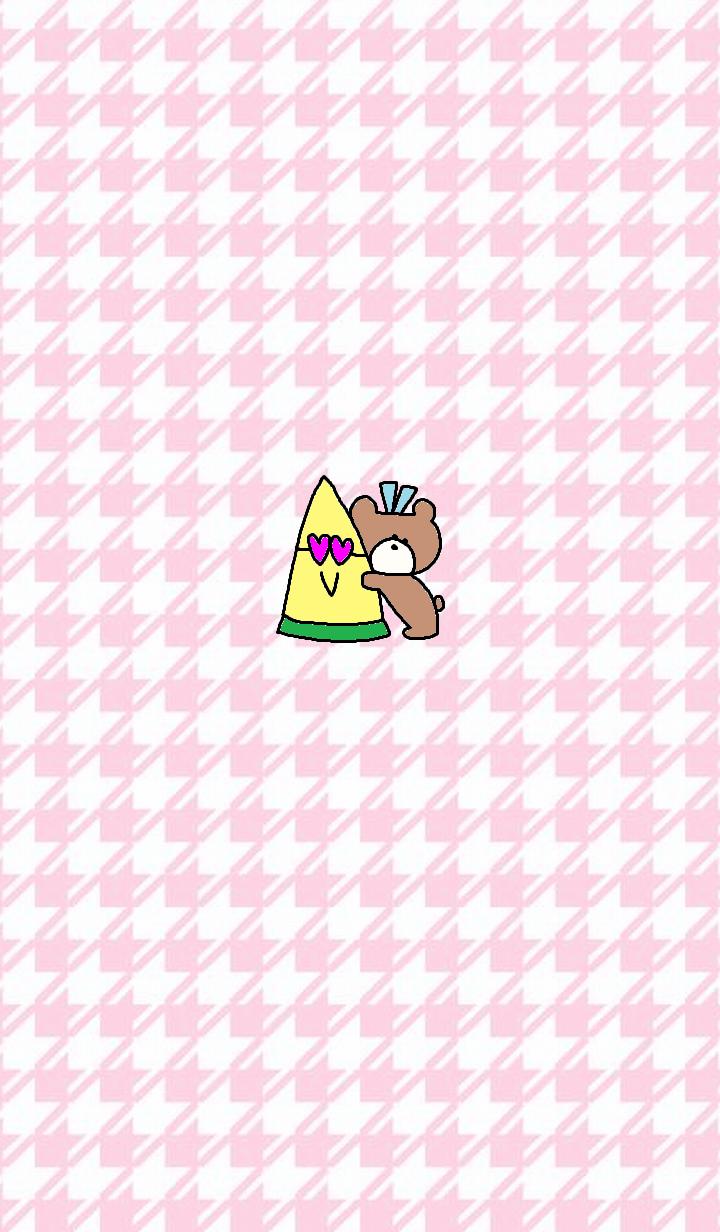 くま x (ピンク)