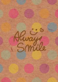 Kraftpaper colorful dot smile3
