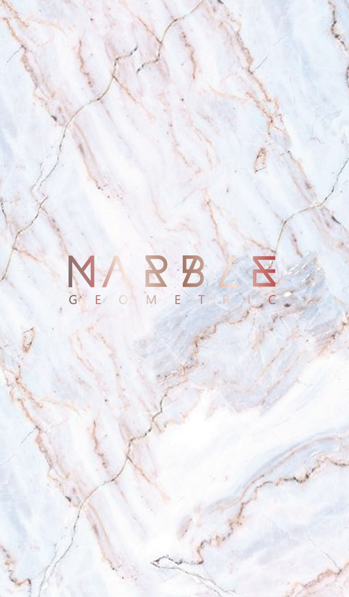 MARBLE(GEOMETRIC)#pink gold