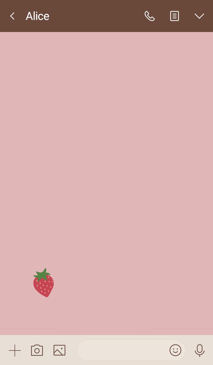 キュートないちご・くすみピンク