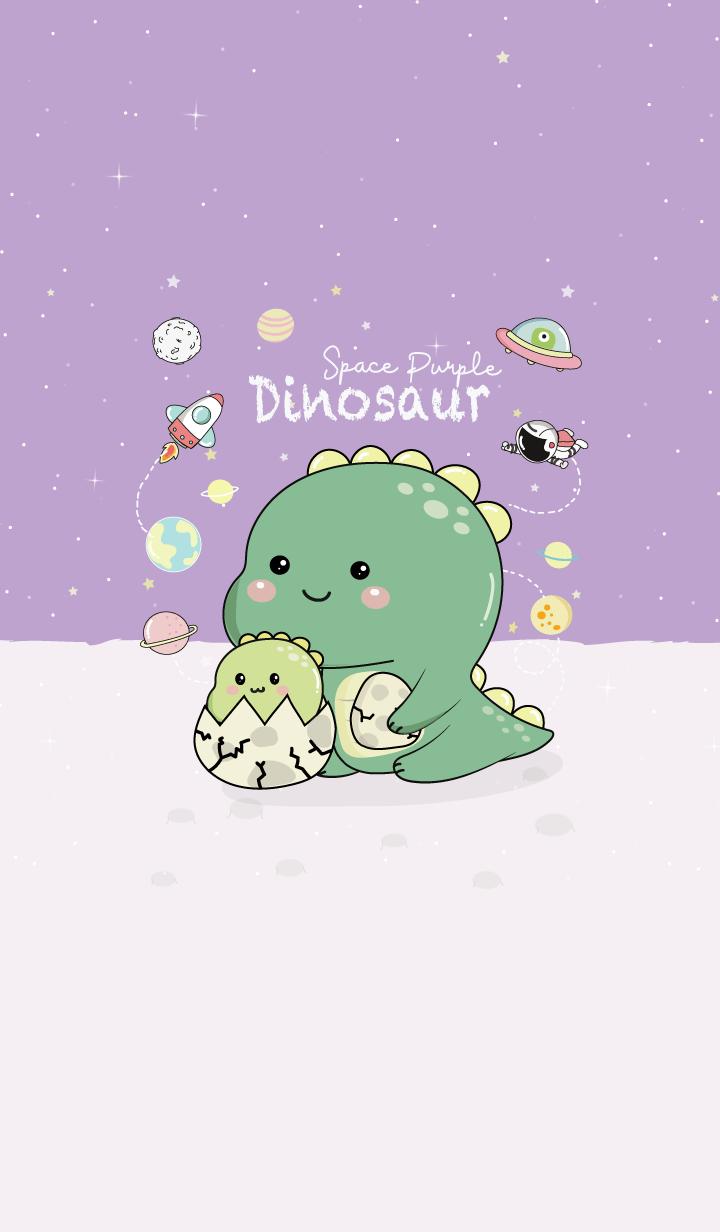 Dinosaur Space Purple