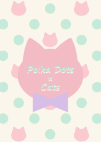 Polka Dots and Cats(Spring color)