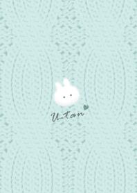 Rabbit and Knit2 bluegreen33_1