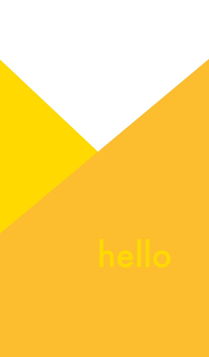 hello - イエロー