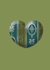 Antique Heart Green