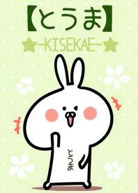 ธีมไลน์ Touma usagi green Theme