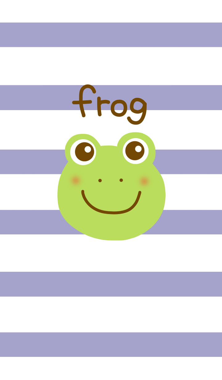 Stripe and frog from japan