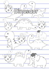 Cute Dinosaur On Notebook t...