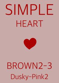 simple heart brown2-3 dpink2