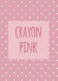 Crayon สีชมพู 4 / หัวใจ