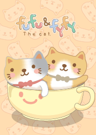 Fufu & Fyfy the cat. coffee cup