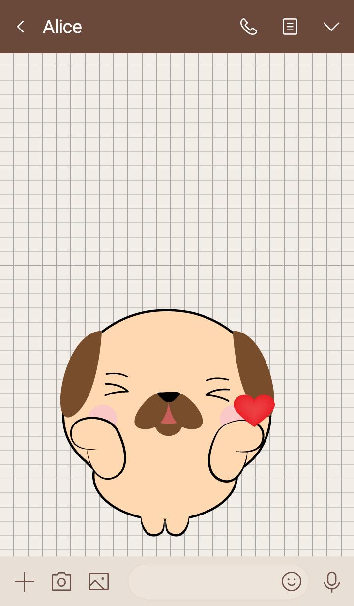 Mini Cute Pug Dog Theme (jp)