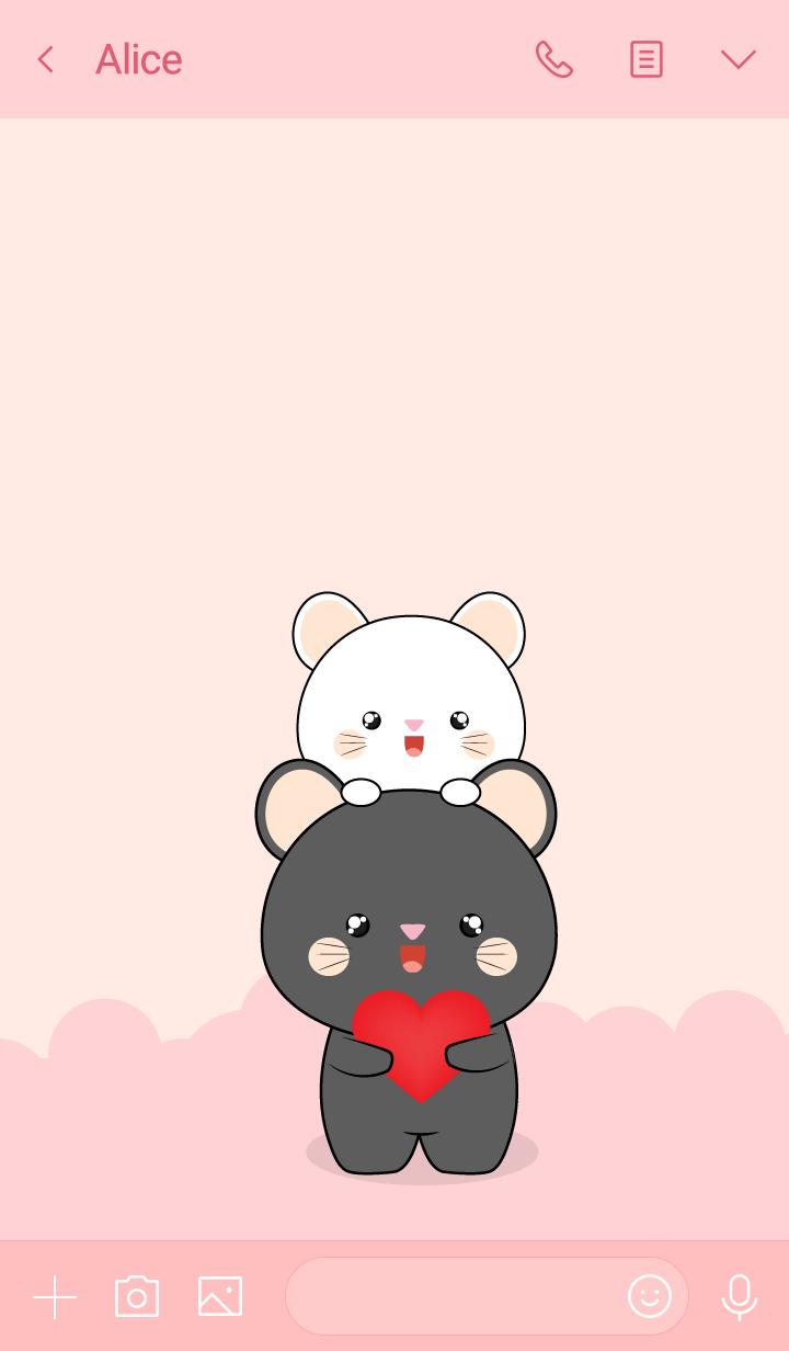 Cute White Mouse & Black Mouse (jp)