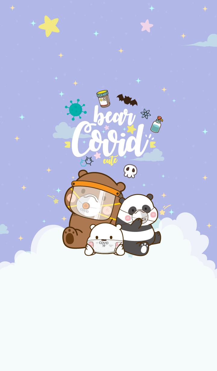 Bear Covid-19 Violet