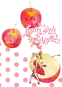 fruits girls-Apple-