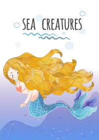 Sea Creatures : Mermaid and friends