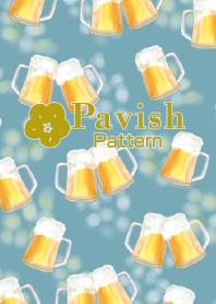 Golden beer-Pavish Pattern-
