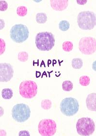 Watercolor Polka dot purple pink5 Japan