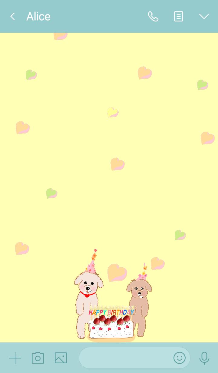 Hareruki of happy toy poodle birthday