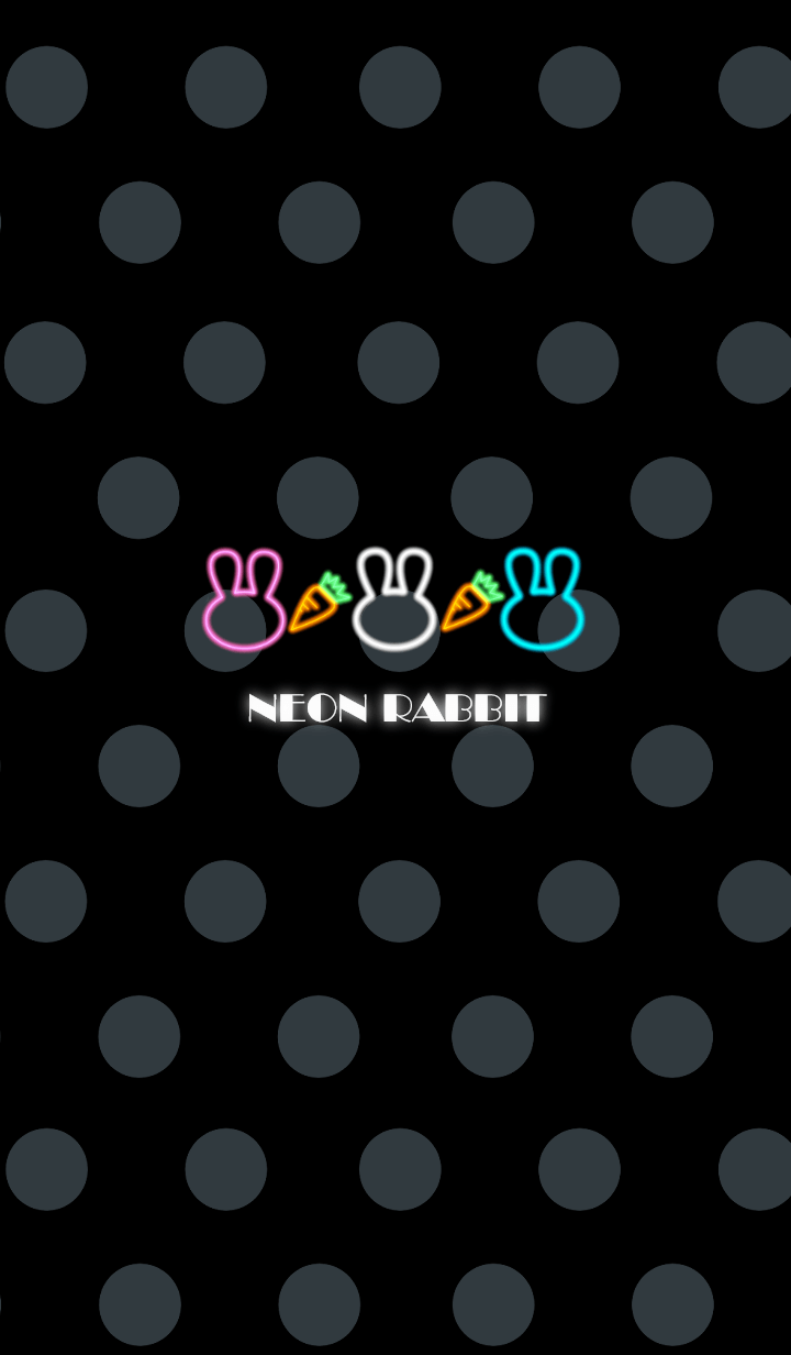 Colorful rabbit -Neon style-