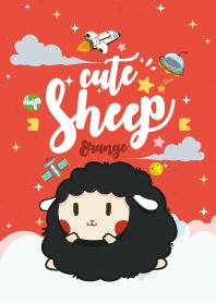 Cute Sheep Galaxy Red