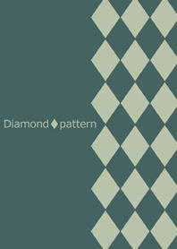 Chic diamond pattern -Green-