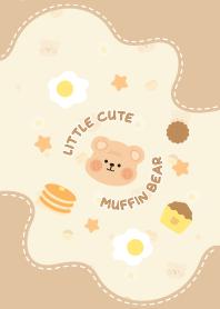 Little cute muffin bear