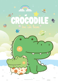 Crocodile Seaside Pastel Green