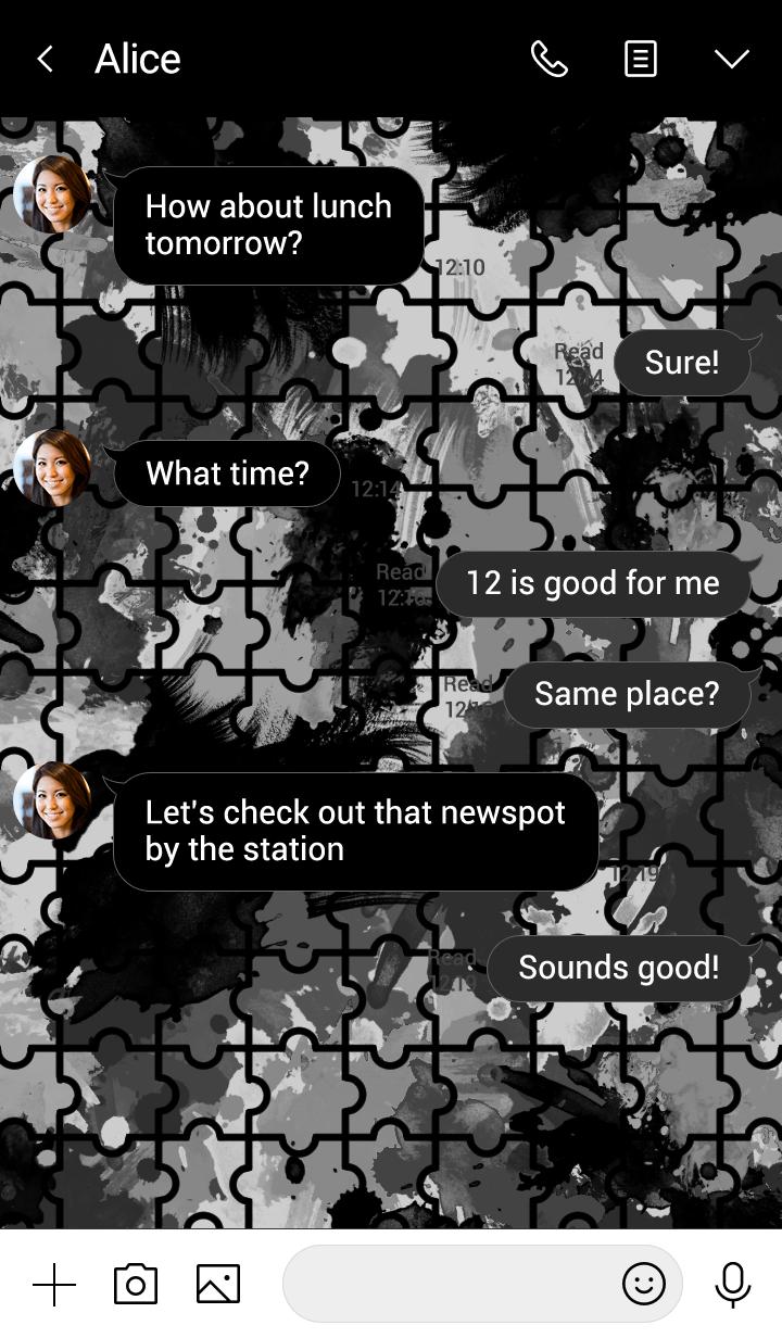 Splash paint -Puzzle-