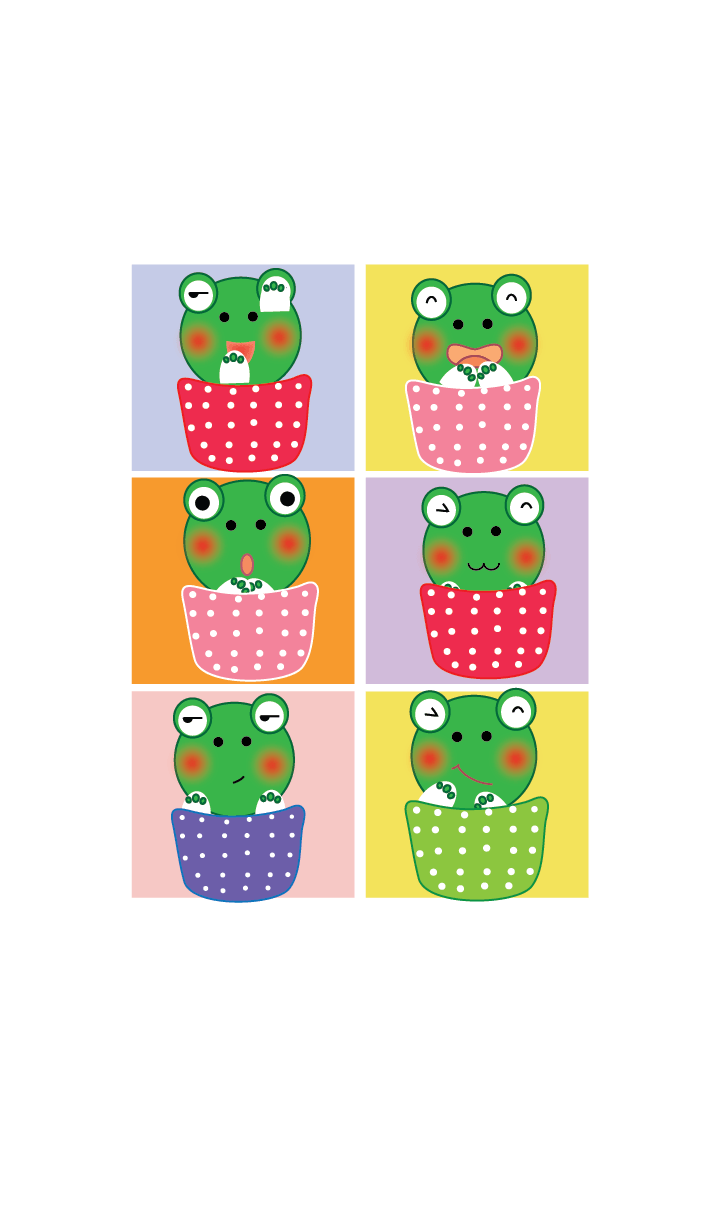 Simple Cute frog theme v.6