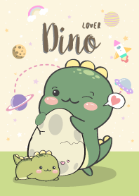 Dino Lover. yellow