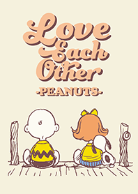Snoopy Love each other