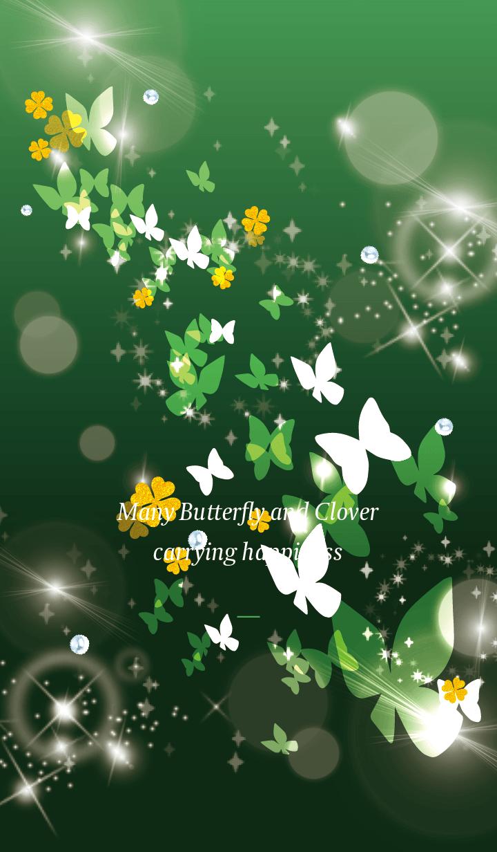 Green : Lucky butterfly & clover